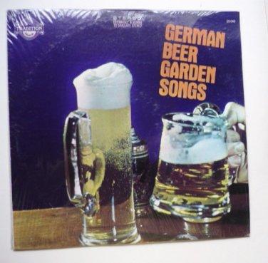 German Beer Garden Songs Record Lp