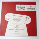 Beethoven Quartet No 6 in B-Flat Major Quartet No 11 in F Minor lp by Budapest String Quartet