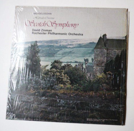 Mendelssohn Scotch Symphony lp by David Zinman Rochester Phil Orch