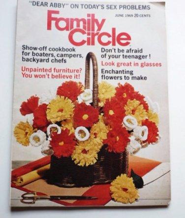 Family Circle Magazine June 1969 - Rare