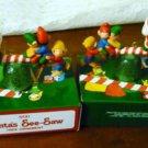 NIB Two 1983 Avon Santa See-Saw Tree Ornaments Gum Drop -