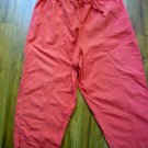 Bobbie Brooks Sz XL Orange Sherbet Capri Pants All Cotton Elastic Waist