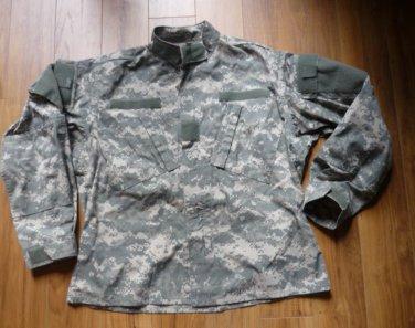 US Army BDU Jacket - Medium Short Digital Camo Wind Resistant Ripstop Coat