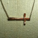 Sideways Cross Necklace Gold Tone by Aldo - Adjustable