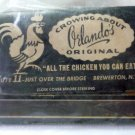 Crowing About Orlandos Matchbook Cover Brewerton NY