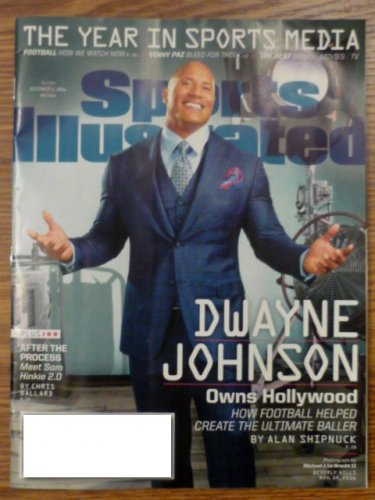 Sports Illustrated December 5 2016 Dwayne Johnson on Cover