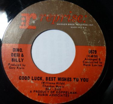 Two In The Afternoon - Good Luck Best Wishes To You 45 RPM Record DINO DESI and BILLY