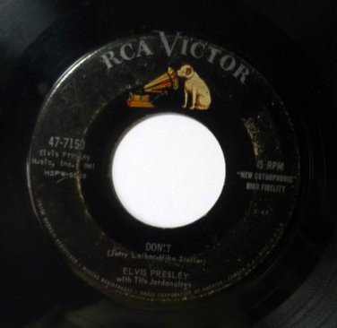 Elvis Presley 45 rpm Dont / I Beg of You