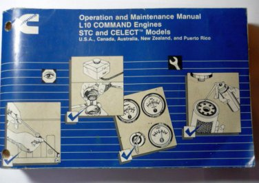 1994 Cummins L10 STC CELECT Models Operation Maintenance Manual