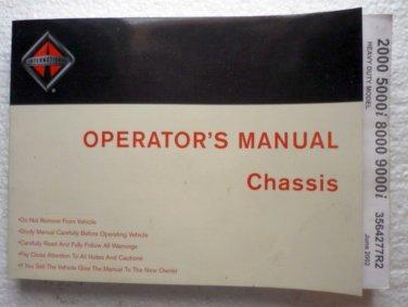 2002 International Operators Manual Chassis 2000 5000i 8000 9000i Heavy Duty