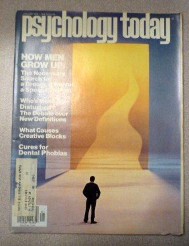 Psychology Today Magazine January 1978
