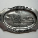 Vntg Miniature Platter Tray Chicago Worlds Fair Silver - Travel and Transportation Building