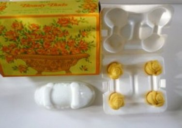Avon Beauty Buds Soap Dish and Fragranced Soaps - Vintage but NIB