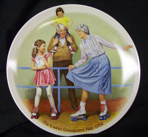 "Joseph Csatari ""The Skating Queen"" plate"