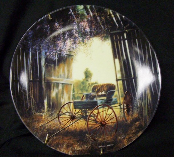 "Country Nostalgia ""The Spring Buggy"" A plate by Maurice Harvey"
