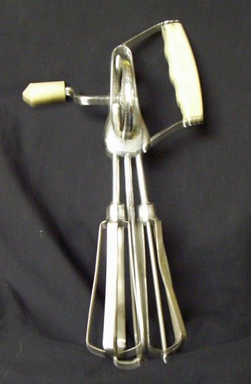 Vintage Egg Beater Blender Mixer (White)