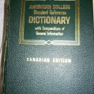 AMERICAN COLLEGE STANDARD REFERENCE DICTIONARY Canadian