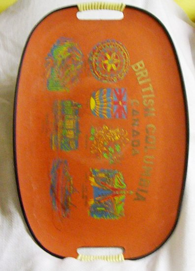 British Columbia Canada Hand Painted Serving Tray