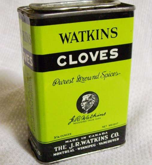 "Watkins Vintage Cloves Container 4"" X 2 1/2"""