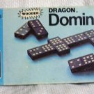 Dragon Wooden Vintage Dominoes  (USA) 1970