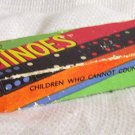 Antique Coloured Wooden Vintage Dominoes (Spears of England)