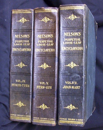 Nelson's Perpetual Loose-Leaf Encyclopedias 1920
