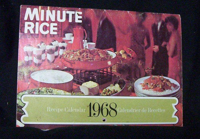 Minute Rice 1968 Recipe Calendar