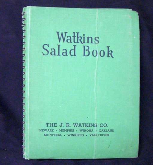 WATKINS SALAD BOOK 1946 By ELAINE ALLEN