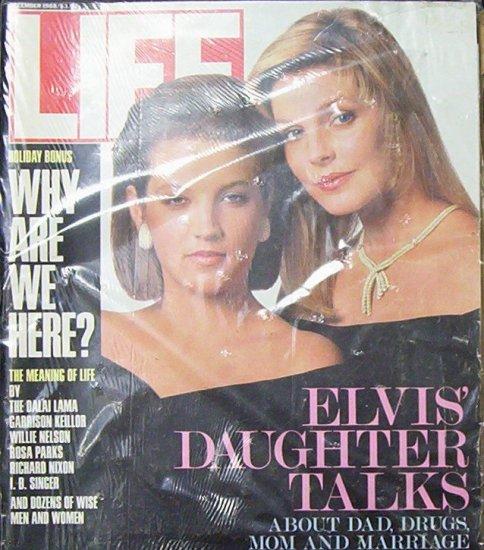 LIFE MAGAZINE December 1988 Elvis' Daughter Talks