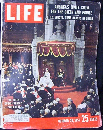 LIFE MAGAZINE Oct. 28, 1957 (The Queen opens Canada's Parliament) John Diefenbaker Era)