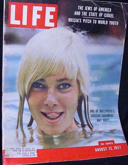 LIFE MAGAZINE August 12, 1957 May Britt