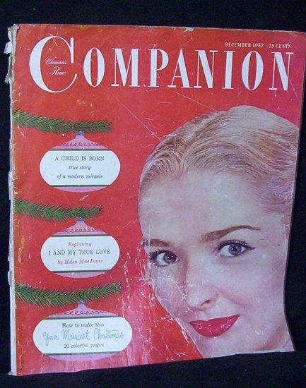 """WOMAN'S HOME COMPANION Dec. 1952 """"A Child is Born"""""""