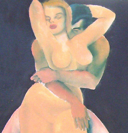 Lover's Embrace A.E. Ingram original artwork