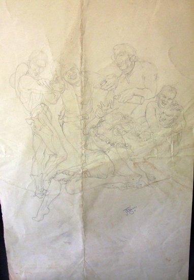 In from the Range - Original artwork by Ted Ingram
