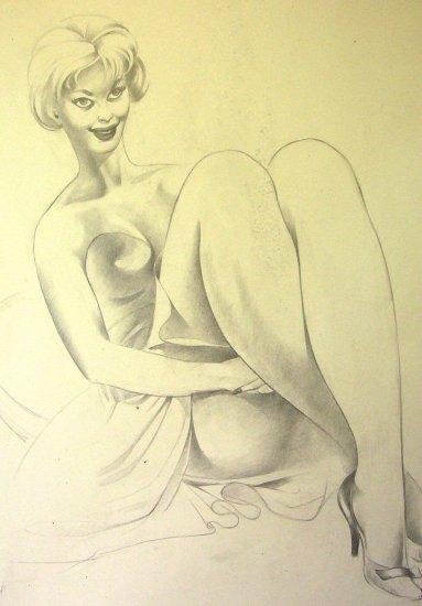 A.E. (Ted) Ingram - Original Sketches (4) using 2 sides
