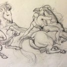 (Ted) A.E. Ingram original pencil sketch for National Museum Mural circa 1947 -&#39;48