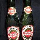 """2- Vintage Silver Spring """"Ye Olde Ale"""" 10% Proof Bottles"""