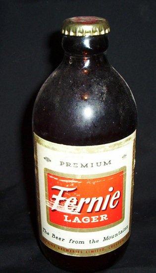 Vintage Fernie Lager Stubby 12 ounce