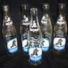 5- Vintage Sun Crest Glass Pop Bottles 10 oz.
