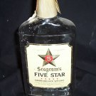 Seagram's 5-Star 12 ounce Rye Whiskey Flask Bottle