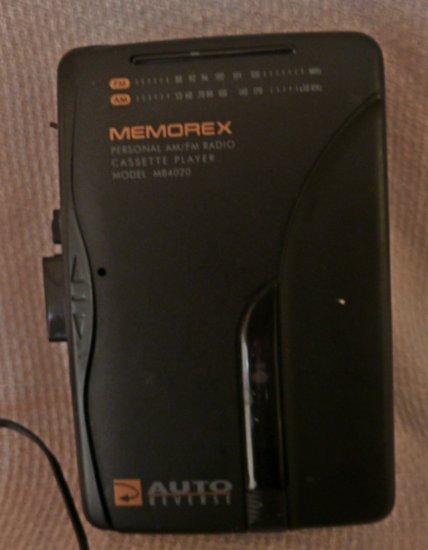 Memorex AM/FM Cassette Player Portable with Belt Clip MB4020