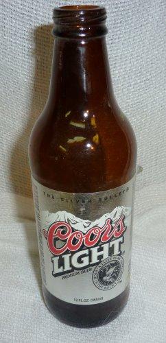 """Coors Light  12 ounce 8"""" bottle"""