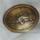 Oval Brass 1957 Corvette Belt Buckle Mint