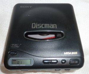 Vintage Sony Discman Mega Bass CD Walkman D-11