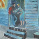Prostitute on Pond St. (Saint John N.B.)- Original Artwork by A.E  (Ted) Ingram)