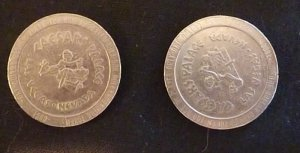 2 -Caesars Palace 1990 Casino Game tokens