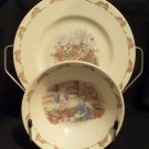 "Royal Doulton ""Bunnykins"" Fine Bone China Plate and Bowl Set"