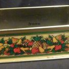 Teleflora - 1981 metal basket to hold flowers or Pyrex Dish