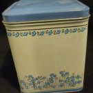 "Blue Floral Decorative Canister 5"" x 4"""
