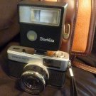 Olympus Trip 35mm Camera W/Flash Unit & Hakuba Leather Field Case
